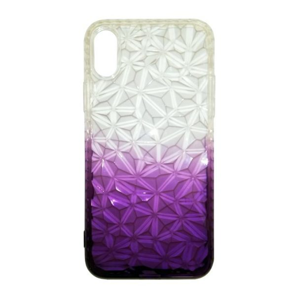 Back Cover Slim Diamond For Iphone X - Purple