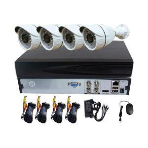 Video Security CCTV Surveillance System, 4CH AHD Full Kits + 4PCS Outdoor/Indoor Cameras,Night Vision