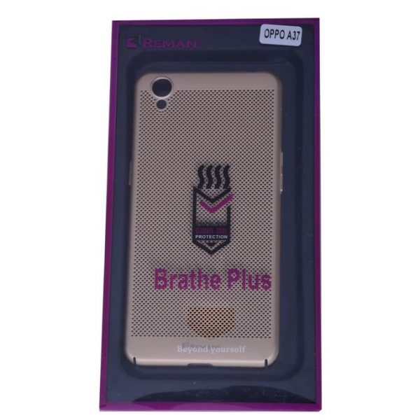 Reman Breathable Ultra Slim Case For Oppo A37 – Gold