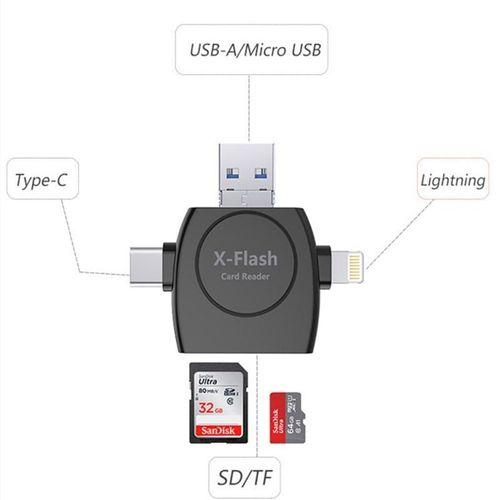 X Flash Drive 3.0 Multi Card Reader - Black