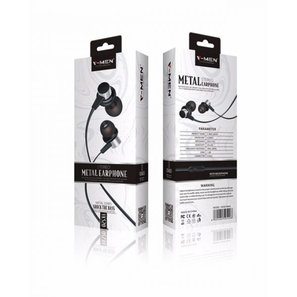 VK520 Stereo Headset With Mic Black Color