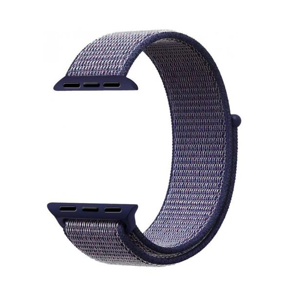 Bracelet Nylon 42mm For Apple Watch Midnight Blue Color