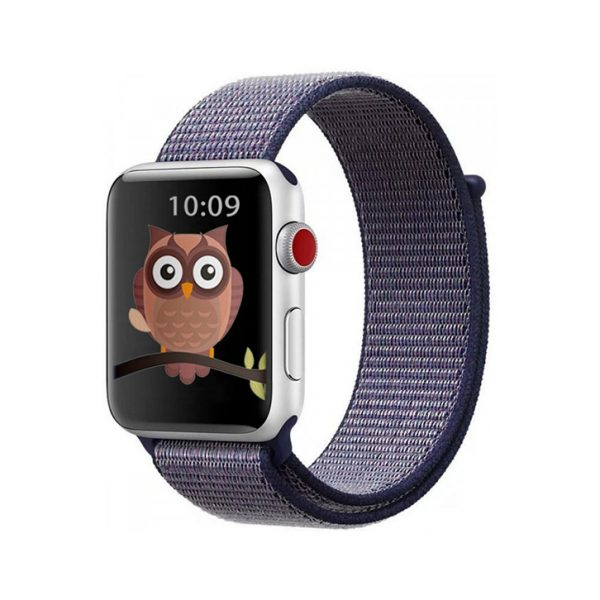 Bracelet Nylon 42mm For Apple Watch Midnight Blue Color