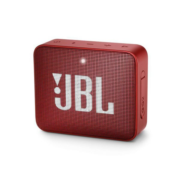 JBL GO 2 Portable Bluetooth Speaker With Microphone – Memory Card Slot Compatible with Mobile and Computer Red Color