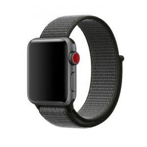 Bracelet Nylon 38mm For Apple Watch Dark Olive Color